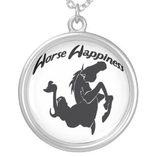 Horse Happiness Silver Necklace