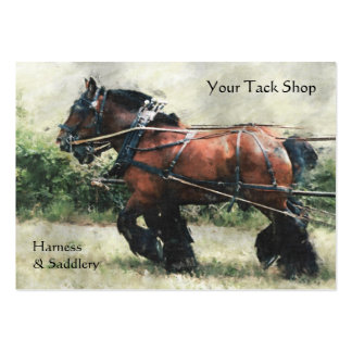Horse harness tack shop large business card
