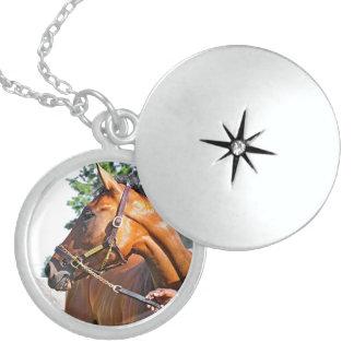 Horse Haven Barn  #47 at Saratoga Round Locket Necklace