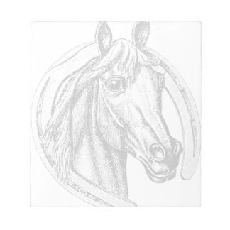 Horse Head and Horse Shoe Scratch Pads