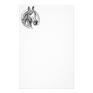 Horse Head and Horse Shoe Stationery Design