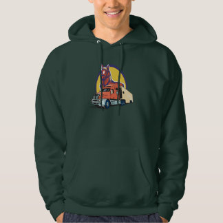 Horse Head and Semi Truck for Truck Drivers Hoodie