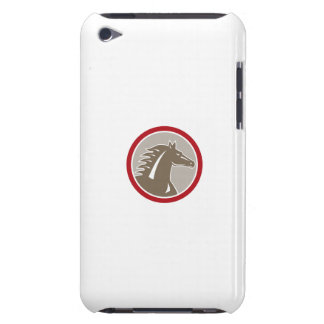 Horse Head Angry Circle Retro iPod Touch Cases