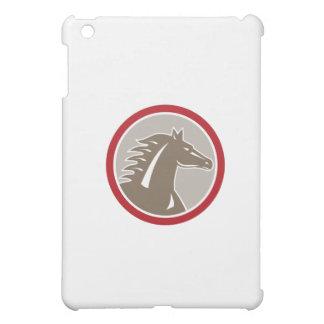 Horse Head Angry Circle Retro iPad Mini Case