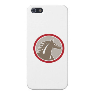 Horse Head Angry Circle Retro iPhone 5 Cases