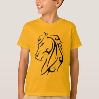 Horse Head Black Dark Ink Style Art T-Shirt