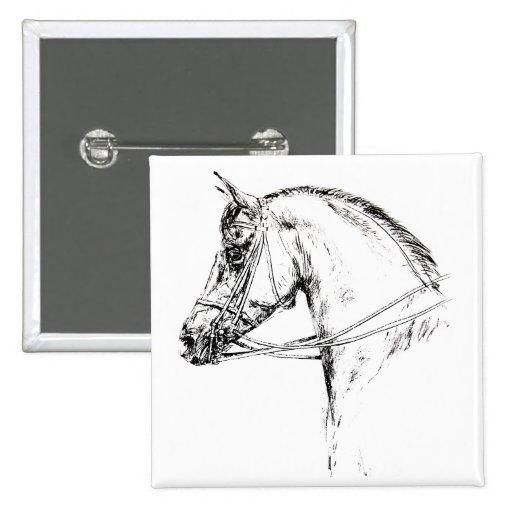 Horse Head Button
