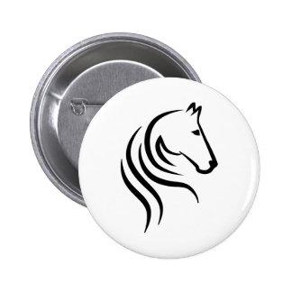Horse head 2 inch round button