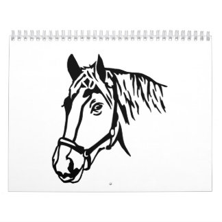 Horse head calendar