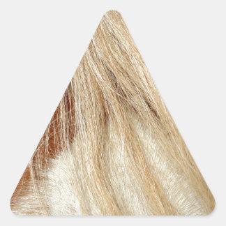 Horse head closeup triangle sticker