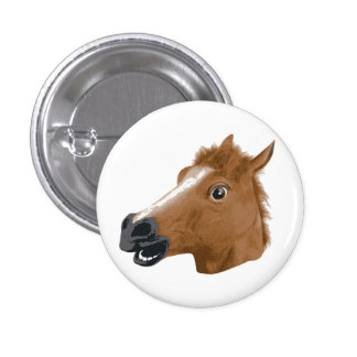 Horse Head Creepy Mask Pinback Buttons