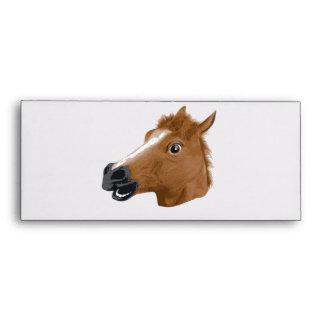 Horse Head Creepy Mask Envelope