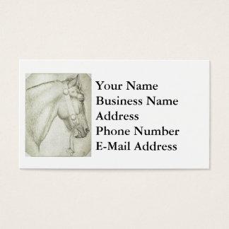 Horse Head Design Business Card