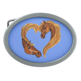 Horse Head Heart Belt Buckle