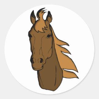 Horse head horse head classic round sticker