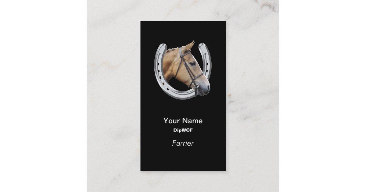 Horse Head In A Horseshoe Farrier Business Card Zazzle Com