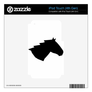 Horse Head in Wind iPod Touch 4G Skin