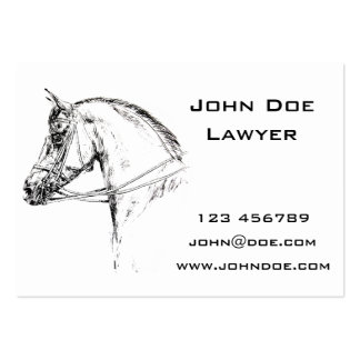 Horse Head Large Business Card