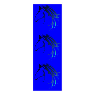 Horse Head Logo in shades of Blue BookMark Mini Business Card