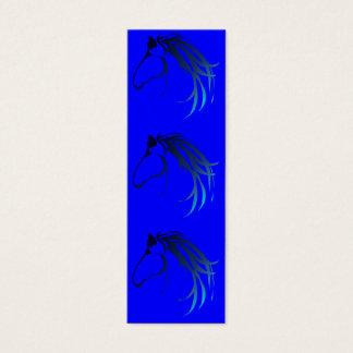 Horse Head Logo in shades of Blue BookMark Mini Business Card