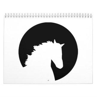 Horse head moon calendar