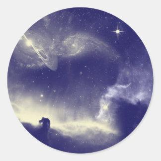 Horse Head Nebula Classic Round Sticker