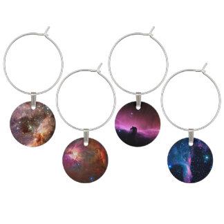 Horse head Nebula Wine Glass Charms