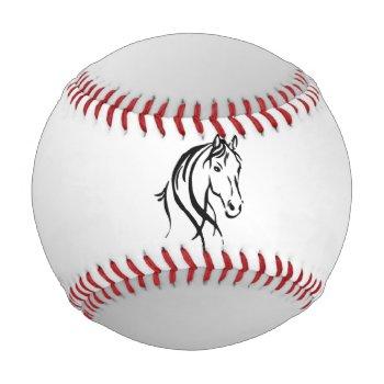Horse Head on Silver Baseball