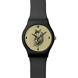 Horse Head on Tan Watches