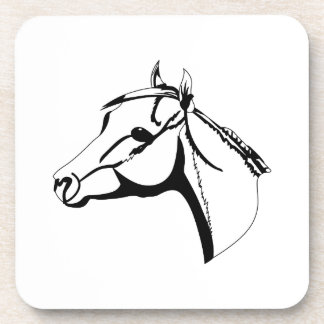 Horse Head Outline Drink Coaster