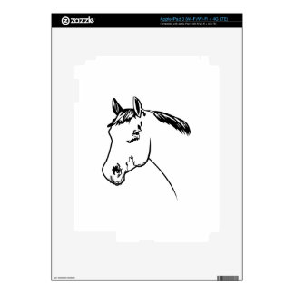 Horse Head Outline iPad 3 Decal