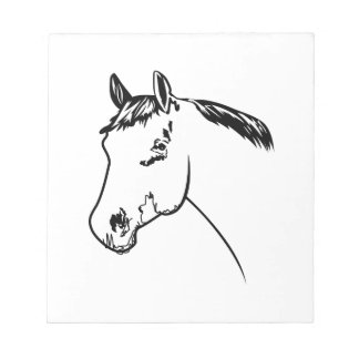 Horse Head Outline Notepad