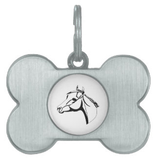 Horse Head Outline Pet Tag