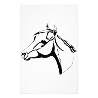 Horse Head Outline Stationery