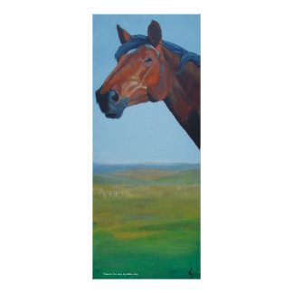Horse Head Painting Poster