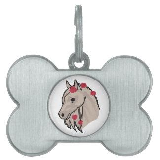 Horse Head Pet Name Tag