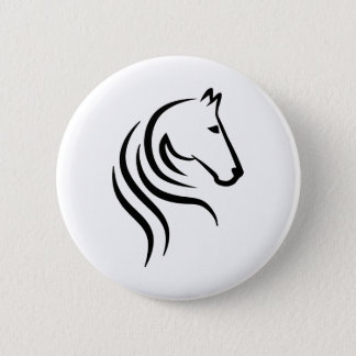 Horse head pinback button
