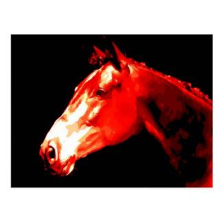 Horse Head Pop Art Postcard