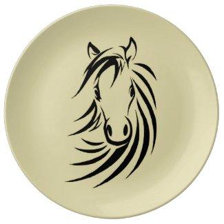 Horse Head Porcelain Plates