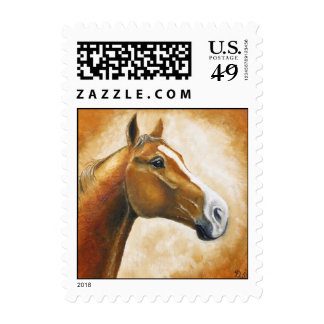 horse head postage stamp