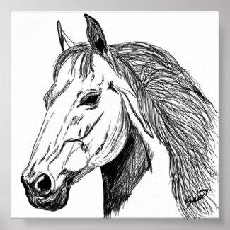 HORSE HEAD print