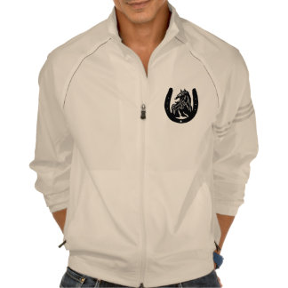 Horse Head Print Men's Adidas Jacket