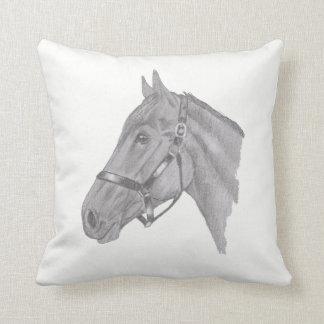 Horse head profile throw pillow