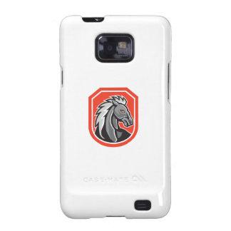 Horse Head Shield Retro Samsung Galaxy S2 Covers