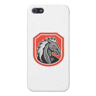 Horse Head Shield Retro Case For iPhone 5/5S