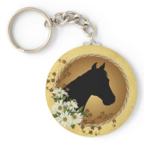 Horse Head Silhouette Keychain