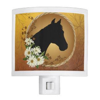 Horse Head Silhouette Nightlite Night Light
