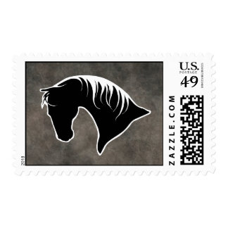 Horse Head Silhouette POSTAGE STAMPS