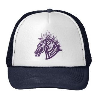 horse head silhouette trucker hat