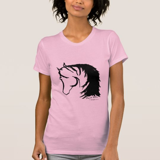 Horse Head Siloutte Sketched T-Shirt